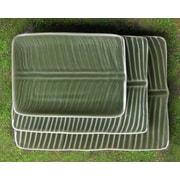Novica Tat Yan Soo 3 Piece Rectangular Ceramic Leaf Plate Set