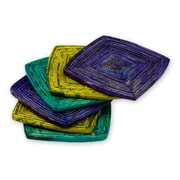 Novica Handcrafted Recycled Paper Coaster (Set of 6)