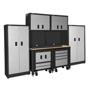 International 7' H x 10' W x 2' D 10-Piece Garage Storage Cabinet; Gray