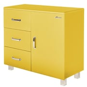 Phoenix Group AG Miami 1 Door and 3 Drawer Cabinet; Yellow