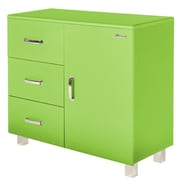Phoenix Group AG Miami 1 Door and 3 Drawer Cabinet; Green