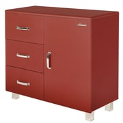 Phoenix Group AG Miami 1 Door and 3 Drawer Cabinet; Red