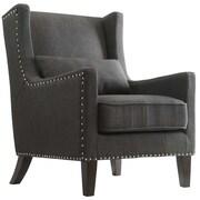 Kingstown Home Jeannette Wingback Arm Chair; Dark Gray