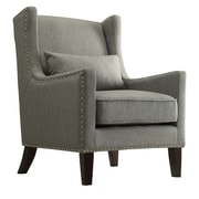Kingstown Home Jeannette Wingback Arm Chair; Gray