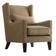 Kingstown Home Jeannette Wingback Arm Chair; Light Brown