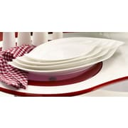 Red Vanilla Fare Wave Platter (Set of 2); Large