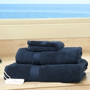 Laguna Beach Towel Company Plush 3 Piece Bath Towel Set; Dress Blues
