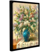 ArtWall 'Elegant Floral II' by Sophie Framed Painting Print; 32'' H x 24'' W x 2'' D