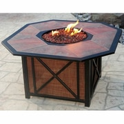 Oakland Living Gas Fire Pit in Antique Bronze