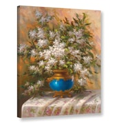 ArtWall 'Elegant Floral I' by Sophie Painting Print on Wrapped Canvas; 48'' H x 36'' W x 2'' D