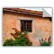 ArtWall Mission Wall and Flowers Wall Mural; 14'' H x 18'' W x 0.1'' D