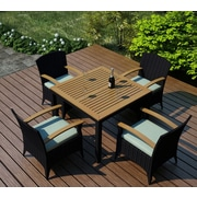 Harmonia Living Arbor 5 Piece Dining Set with Cushion; Canvas Spa