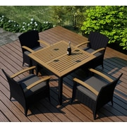 Harmonia Living Arbor 5 Piece Dining Set with Cushion; Canvas Charcoal