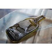 Bottles & Wood Wine Bottle Appetizer Tray; Amber