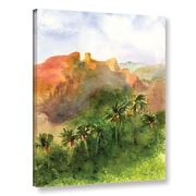 ArtWall 'Arizona Palms' by Amy Kirkpatrick Painting Print on Wrapped Canvas; 32'' H x 24'' W x 2'' D