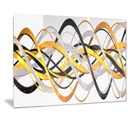 DesignArt Metal 'Gold/Silver Helix' Graphic Art; 12'' H x 28'' W