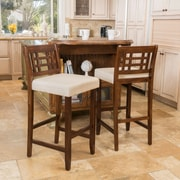 Home Loft Concepts Carson 30'' Bar Stool with Cushion (Set of 2); Beige