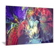 DesignArt Metal 'Color Collision' Graphic Art; 12'' H x 28'' W