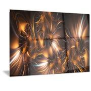 DesignArt Metal 'Silver/Gold Stars' Graphic Art; 12'' H x 28'' W