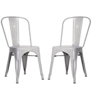 Merax Side Chair (Set of 2); Silver
