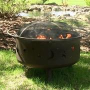 SunnyDaze Decor Steel Wood Fire Pit
