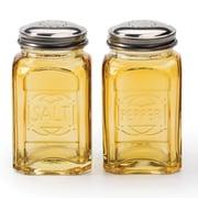 RSVP-INTL Retro Salt and Pepper Shaker (Set of 2); Amber