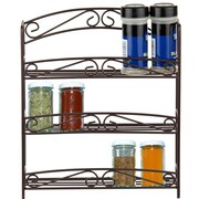 Sweet Home Collection 3 Tier Classic Scroll Spice Rack