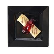Fineline Settings, Inc Square Dessert Plates (Set of 120); Black