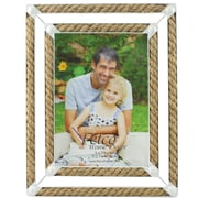 Fetco Home Decor Shoreham Rope And Metal Picture Frame