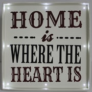 Fetco Home Decor Light Up Textual Art Plaque