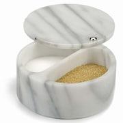 RSVP-INTL Swivel Top Salt Box; White