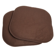 Sweet Home Collection Chair Cushion (Set of 2); Brown