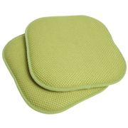 Sweet Home Collection Chair Cushion (Set of 2); Green