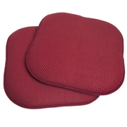 Sweet Home Collection Chair Cushion (Set of 2); Wine