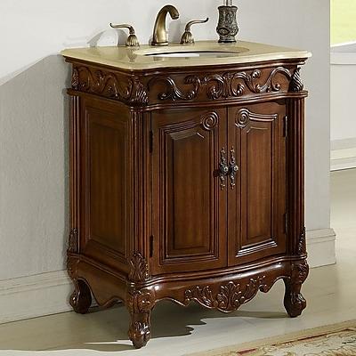 Chelsea Home Furniture Villa 27'' Single Vanity Set; Teak
