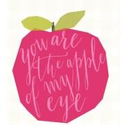 GreenBox Art 'Apple Of My Eye' by Stacy Amoo Mensah Graphic Art on Canvas; 21'' H x 21'' W