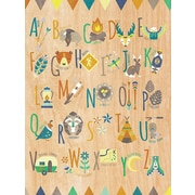 GreenBox Art 'Tiny Totem Alphabet' by Modern Whimsy Art Graphic Art on Canvas; 24'' H x 18'' W