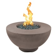 The Outdoor Plus Sienna Concrete Natural Gas Fire Pit; Chocolate
