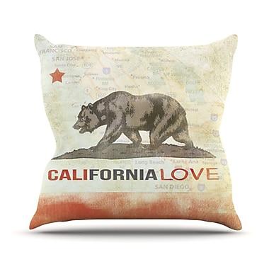 KESS InHouse Cali Love Throw Pillow; 20'' H x 20'' W