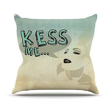 KESS InHouse Kess Me Throw Pillow; 18'' H x 18'' W