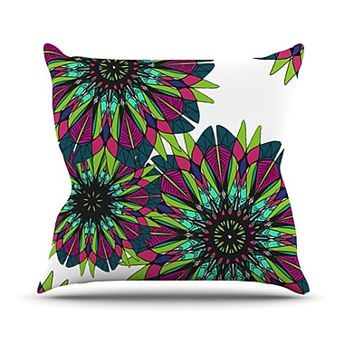 KESS InHouse Bright Throw Pillow; 20'' H x 20'' W