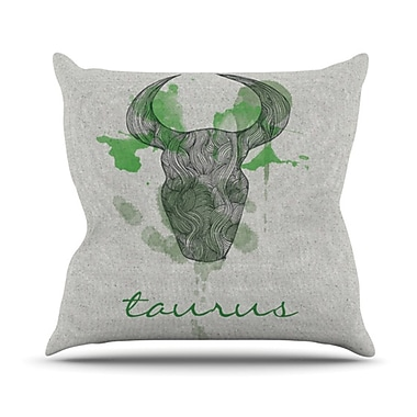 KESS InHouse Taurus Throw Pillow; 18'' H x 18'' W