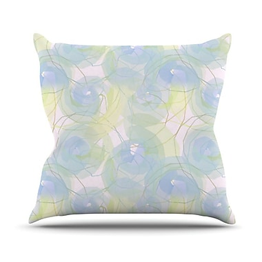 KESS InHouse Paper Flower Throw Pillow; 18'' H x 18'' W