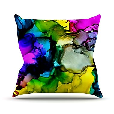 KESS InHouse A Little Out There Throw Pillow; 18'' H x 18'' W