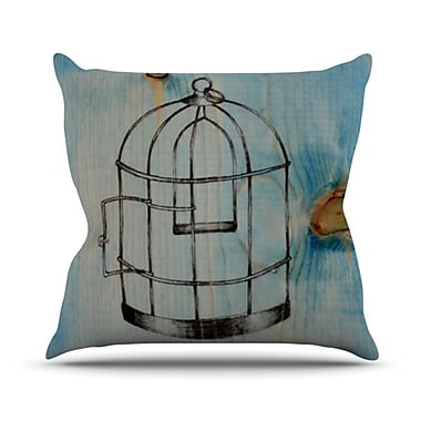 KESS InHouse Bird Cage Throw Pillow; 20'' H x 20'' W