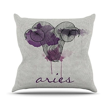 KESS InHouse Aries Throw Pillow; 20'' H x 20'' W