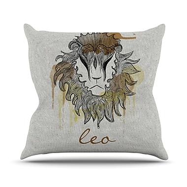 KESS InHouse Leo Throw Pillow; 20'' H x 20'' W