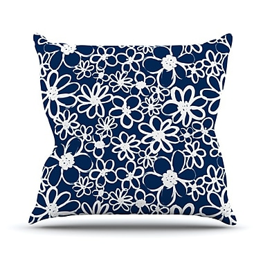 KESS InHouse Daisy Lane Throw Pillow; 18'' H x 18'' W x 4.1'' D