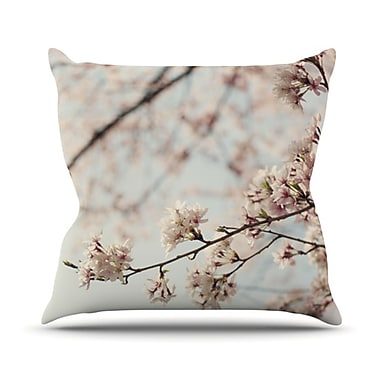 KESS InHouse Japanese Blossom Throw Pillow; 18'' H x 18'' W