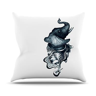 KESS InHouse Elephant Guitar Throw Pillow; 20'' H x 20'' W x 4.5'' D